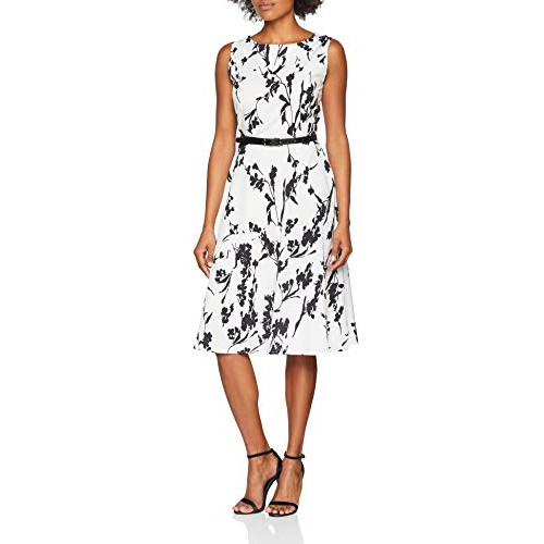 Abito da sposa partito dei vestiti Hepburn stile pannello esterno pieno delle donne Floral-11