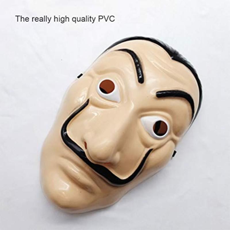 Gutyan Maschera di Plastica La Maschera da Film di Casa Maschera da Film Cosplay Maschera per Feste Realistica Traspirante