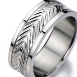 Anello da Uomo Donna - Unisex per le Coppie - Promessa - Anniversario - Acciaio Inossidabile - con Motivo Geometrico(8)
