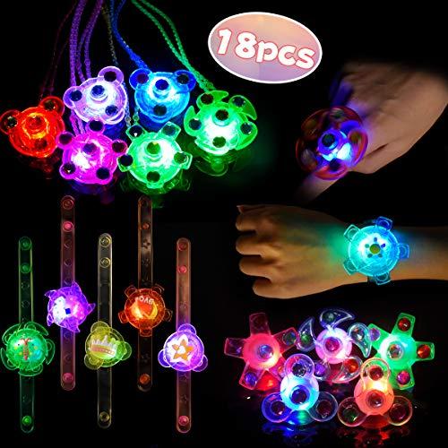 Bomboniere LED per Bambini Braccialetti Luminosi Anelli Luminosi Collane per Bambini Giocattoli Luminosi Premio per Studenti, Articolo al Neon di C...