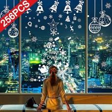 Heekpek Natale Vetrofanie Adesivi Murali Rimovibile Fai da te Finestra Decorazione Vetrina Wallpaper di neve Christmas Decor Babbo Campana Adesivi ...