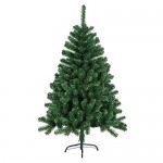 HENGMEI 210cm Albero di Natale Artificiale PVC Verde Decorazione di Natale incl. Supporto in Metallo