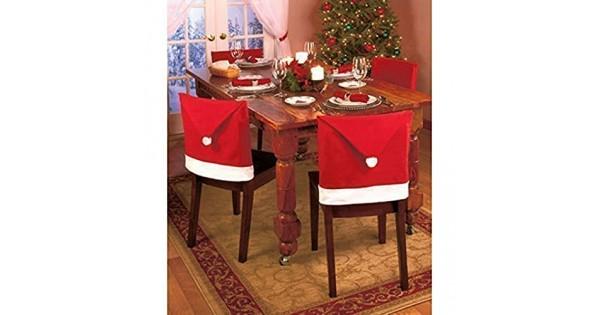 Sedie Decorate Per Natale : Hibote copri sedie cappello di babbo natale pacco da cover