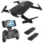Holy Stone HS160 Mini Drone Pieghevole FPV Droni Tascabile con Telecamera HD Live e Tempo di Volo più Lungo Sistema di Stabilizzazione Quadricotter...