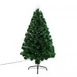HOMCOM - Albero di Natale Artificiale 130 Rami in PVC con Luci LED Φ62 x 120cm Verde