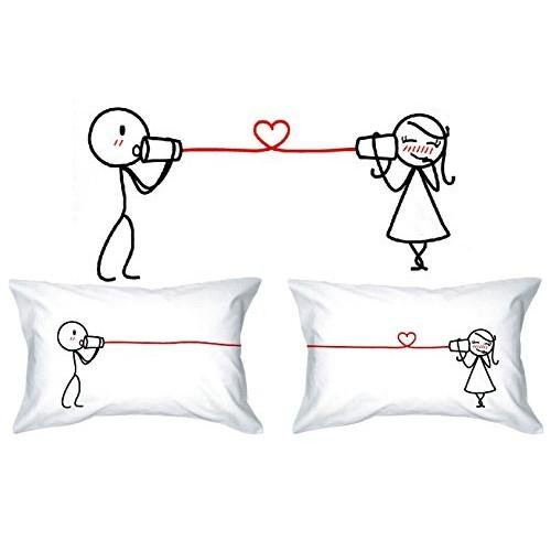 Human Touch - Federe copricuscino per lui e per lei, idea regalo per anniversario, matrimonio, S. Valentino
