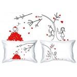 PETALS-LOVE & His Hers-Federa per cuscino, motivo vintage romantico, confezione regalo, per anniversario di matrimonio, Regalo Valentine, o che str...