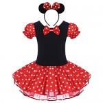 IBTOM CASTLE Costume per Halloween o Carnevale da Minnie, per Bambina Polka Dots Tutu Principessa Abiti per Natale Festa Cerimonia Compleanno Comun...