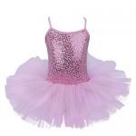 iixpin Vestito Danza Classica Brillante Tutu Bambina Ballerina da Ballo con Paillettes Leotard Ballet Body Ginnastica Vestito da Pattinaggio Artist...