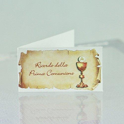 20 Bigliettini bomboniera PRIMA COMUNIONE con calice
