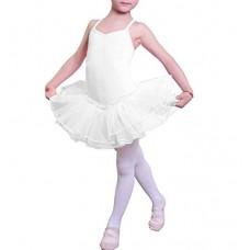 Ragazza Leotard Vestito Tutu Balletto Dancewear Body Ginnastica Abbigliamento 3-12 anni ...