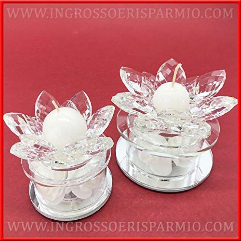 Bomboniere Matrimonio Cristallo.Ingrosso E Risparmio Porta Candele A Forma Di Fiore In Cristallo