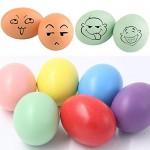 INTVN Uova di legno Uova di Pasqua Colori Assortiti Falso Simulazione Uova gioco cucina cibo giocattolo DIY Pittura Graffiti giocattolo per bambini...