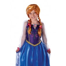 Jakks Pacific UK Ltd Anna Frozen Disney Parrucca per costume di Carnevale