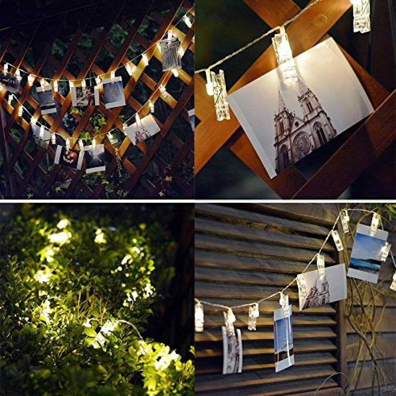 Matrimonio Bianco Natale : Foto led clip luci della stringa per appendere quadri e