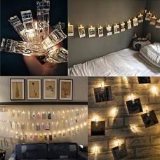 20 Foto LED clip luci della stringa per appendere quadri e Batterie Powered per San Valentino, Natale, compleanno, Party, Matrimonio (bianco caldo)...