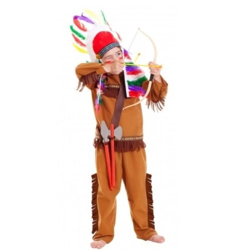 la moda più votata scarpe eleganti classico Costume e accessori da Indiano per Bambino Halloween Carnevale Taglia 3-6  anni