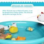 Giocattolo da bagno(8PCS),Giocattoli da bagno galleggianti con cani da fattoria, anatre, pecore e galline Giocattoli da bagno morbidi giocattoli da...