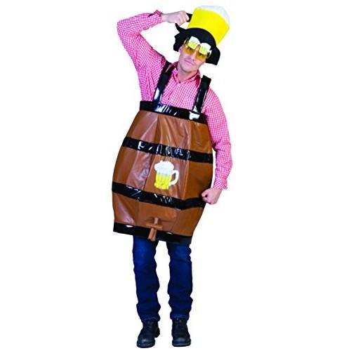 Costume da botte festa della birra con rubinetto tirolese bavarese