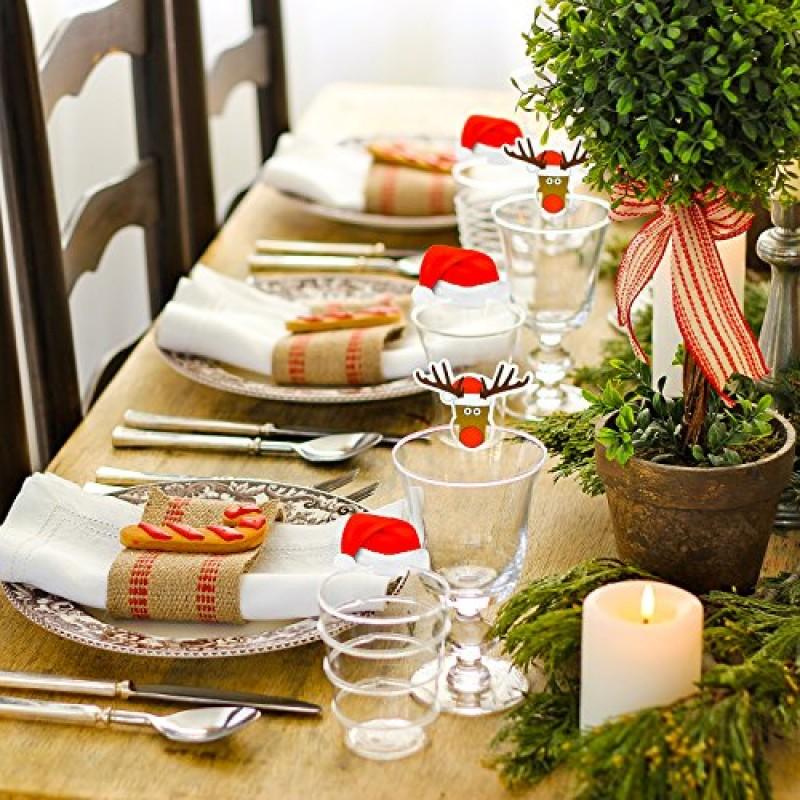 Set di decorazioni di natale da 20 pezzi per bicchieri per - Decorazioni per il natale ...