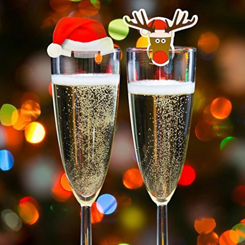 Babbo Natale Fatto Con I Bicchieri Di Plastica.Set Di Decorazioni Di Natale Da 20 Pezzi Per Bicchieri Per