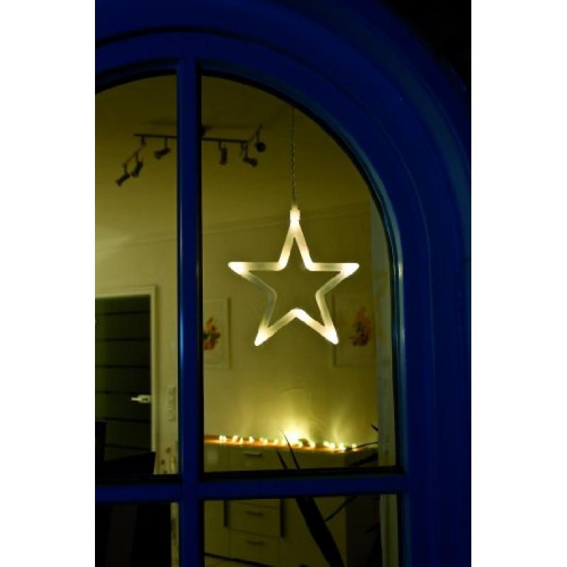 Stella Di Natale Luce.Konstsmide Decorazione Per Finestra Stella Di Natale Con 8 Led