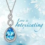 Lady colour Tesoro Collana donna con cristalli da Swarovski Gioielli blu regalo donna compleanno festa della mamma regalo san valentino regalo nata...