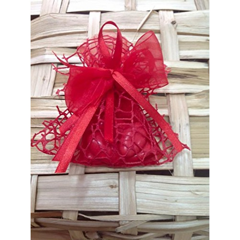 Bomboniere set 10 Sacchetti rossi laurea COMPLETA confetti + bigliettino  bomboniera 896a7ae35e9b