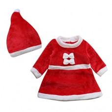 Le SSara 2pcs Dress Cosplay inverno del bambino di natale Neonato Costume Hat Outfit (6-12 Mesi)