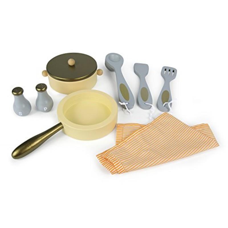 Leomark cucina vintage giocattolo in legno cucina accessoriata per bambini - Cucina giocattolo in legno ...
