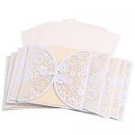 LEORX Matrimonio biglietti d'invito con buste Bowknot guarnizioni - 10pcs (Avorio)