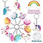 Libershine 48 Pezzi Unicorn Party Set - Portachiavi Unicorno, Accessori Chiave, Regali di Compleanno per Bambini e Bambine,Regali dei Bambini Premio