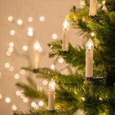 Filo di 20 luci LED a candela con mollette per Albero di Natale di  Lights4fun f73fb0942aeb