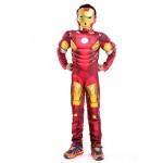 Costume da Iron Man per Bambini - Supereroe e Maschera - Busto Muscoloso - Travestimento - Carnevale - Halloween - Cosplay - Accessori - Taglia L -...