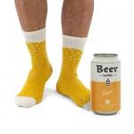 """Luckies of London Soup Socks - Calzini da uomo colorati e divertenti con fantasia """"birra"""" in morbido misto cotone - Calzini particolari in lattina ..."""