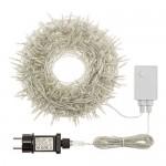 Catena 25,5 m, 360 miniled Bianco Caldo, mit Memory Controller, Cavo Trasparente, addobbi Natalizi, Catene luci per Albero di Natale, Decorazione L...