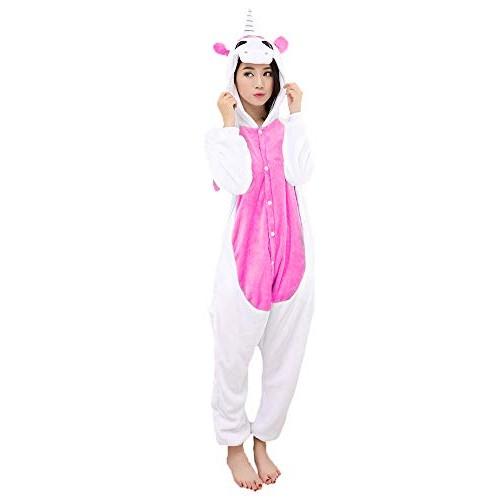 Carnevale Halloween Costume o Pigiama Animali Cosplay Party Tuta OnePiece Regalo di Compleanno per Adulti Adolescenziale Ragazzi (M(155-168cm), Ros...