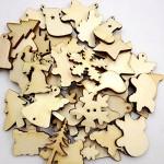 50 Misti Forme Di Albero Di Natale Vuote In Legno Abbellimento Decorazione Casa Feste
