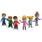 Mattel Fisher-Price, statuine di Alvin And The Chipmunks, Confezione Multipla