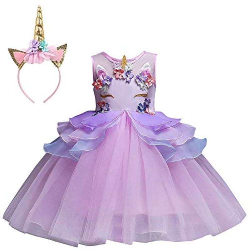 Vestiti Eleganti Bimba 7 Anni.Mbby Costumi Carnevale Bambine 2 7 Anni Vestiti Unicorno Da