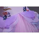 Mbby Costumi Carnevale Bambine,2-7 Anni Vestiti Unicorno da Cerimonia per Bambina Cerimonia Abiti Principessa Fiori Senza Manica Tulle Abito Tutu p...