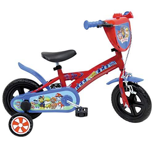 """Mondo Mondo-25291 Toys-Bici MOD. Paw Patrol Bambina-Misura 10'' -rotelle e Freno Anteriore Rosso/blu-25291, Colore rossoblu, 10"""", 25291"""