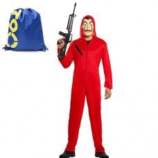 Costume Carnevale-travestito come Babbo Natale uomo con cappuccio Pullover S-XXL