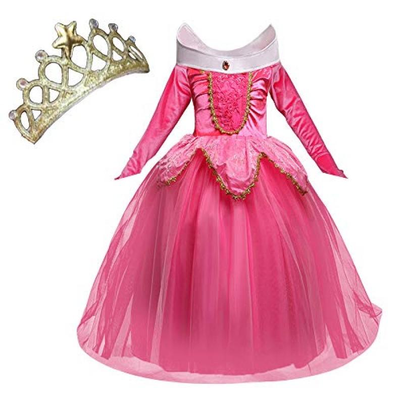 Abito Cerimonia 3 Anni.Nndoll Aurora Principessa Vestito Sleeping Beauty Costume Bambina