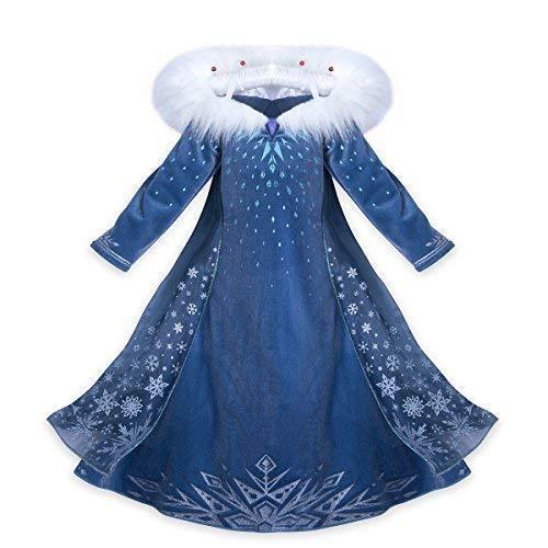 Princess vestito Frozen Carnevale bambina abito Costume bimbi deluxe Elsa 131