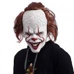 NUWIND Pennywise Maschera in Lattice Pagliaccio Costume Spaventoso per Cosplay, Travestimento, Halloween Accessori per Maschere Facciali per Adulti