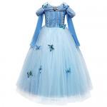 OBEEII Costume Carnevale Bambine Cenerentola Principessa Cinderella Vestito per Mardi Gras mercoledì delle Ceneri Pasqua Quaresima Fancy Dress Up 5...