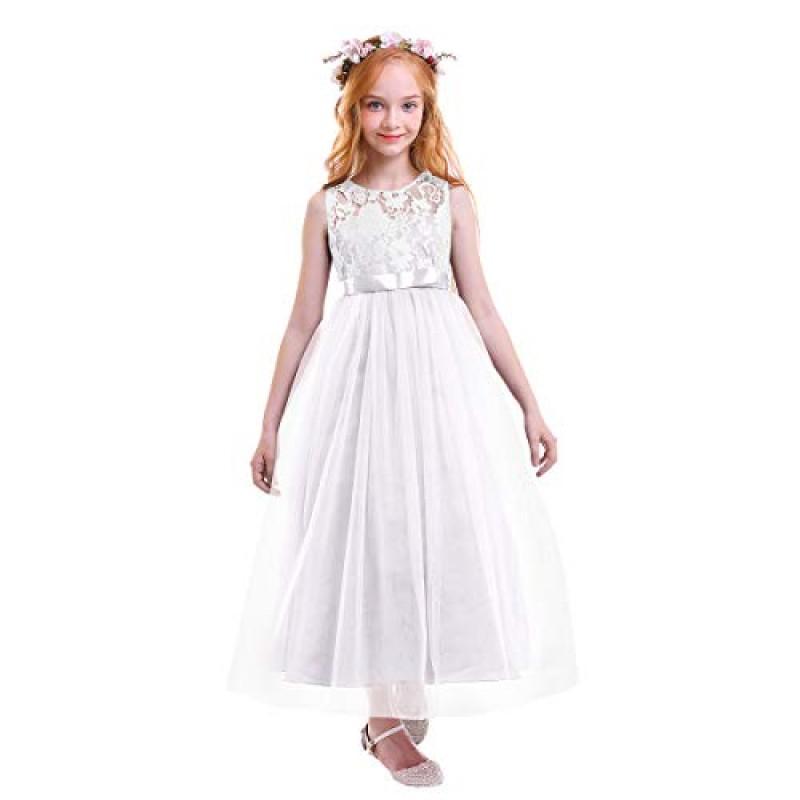 buy online 76caf f9a13 OBEEII Vestito Elegante da Ragazza Festa Cerimonia ...