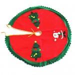 Ofye, copertura per base dell'albero di Natale, decorata con Babbo Natale e alberi di Natale, 90 cm