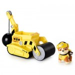 PAW PATROL Playset Veicolo STEAM ROLLER Rullo Compressore di RUBBLE con Personaggio - Originale Spin Master Basic
